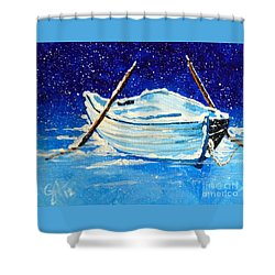 Forgotten Rowboat Shower Curtain by Jackie Carpenter