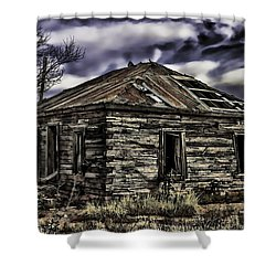 Shower Curtain featuring the painting Forgotten by Muhie Kanawati