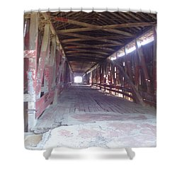Shower Curtain featuring the photograph Forgotten Tunnel by Fortunate Findings Shirley Dickerson