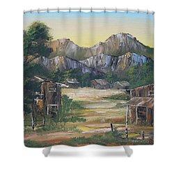 Forgotten Village Shower Curtain by Remegio Onia