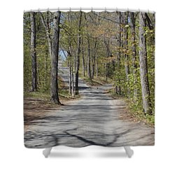 Fork In The Road Shower Curtain by Catherine Gagne