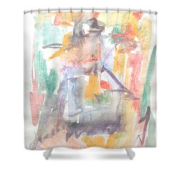 Shower Curtain featuring the painting Formal Signature by Esther Newman-Cohen