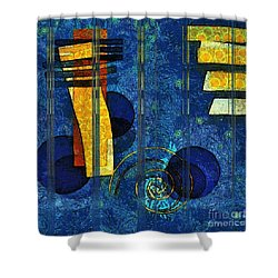 Formes - 0101rgnlbl Shower Curtain by Variance Collections