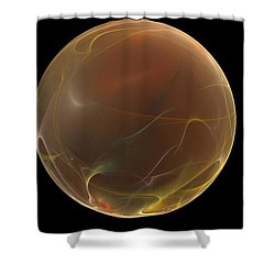 Forming Of The Sphere Shower Curtain by Peter R Nicholls