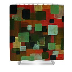 Shower Curtain featuring the painting Forms by Barbara St Jean