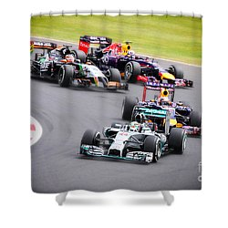 Formula 1 Grand Prix Silverstone Shower Curtain