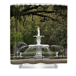 Forsyth Park Fountain - D002615 Shower Curtain
