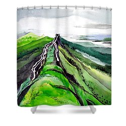 Fort 1 Shower Curtain by Anil Nene