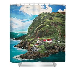 Shower Curtain featuring the painting Fort Amherst Newfoundland by Sharon Duguay