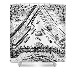 Fort Caroline, 1564 Shower Curtain by Granger