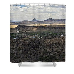 Fort Davis From Davis Mountains State Park Shower Curtain
