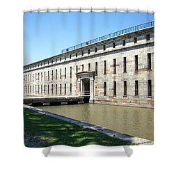Fort Delaware Sally Port Entrance Shower Curtain