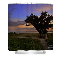 Fort Fisher Sunset  Shower Curtain
