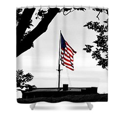 Fort Mchenry Flag Color Splash Shower Curtain