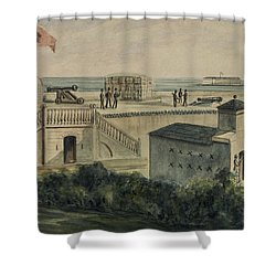 Fort Moultrie Circa 1861 Shower Curtain by Aged Pixel