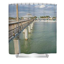 Fort Myers Beach Shower Curtain by Kim Hojnacki