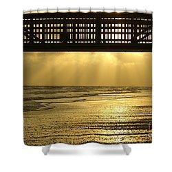 Fort Myers Golden Sunset Shower Curtain