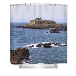 Fort National - Saint-malo Shower Curtain by Joana Kruse