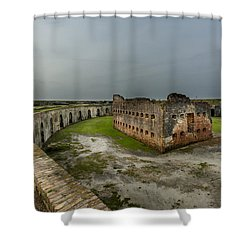 Fort Pike Shower Curtain by David Morefield