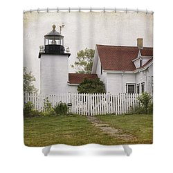 Fort Point Lighthouse Shower Curtain by Joan Carroll