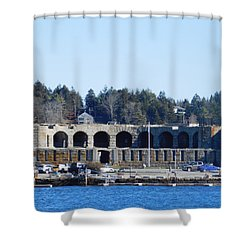 Fort Popham In Maine Shower Curtain