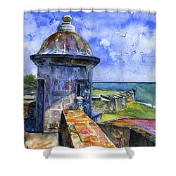 Fort San Juan Puerto Rico Shower Curtain