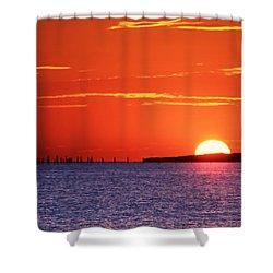 Fort Story Sunrise Shower Curtain
