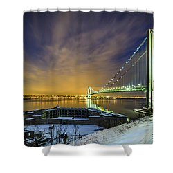 Fort Wadsworth And Verrazano Bridge Shower Curtain