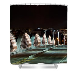 Fort Worth Seventh Street Bridge Oct 10 2014 Shower Curtain