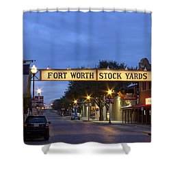 Fort Worth Stockyards Shower Curtain