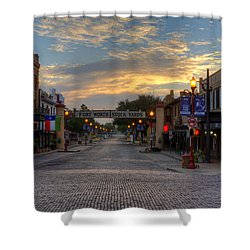 Fort Worth Stockyards Sunrise Shower Curtain