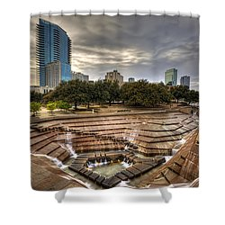 Fort Worth Water Garden Shower Curtain
