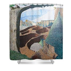 Forte Rest Shower Curtain by A  Robert Malcom