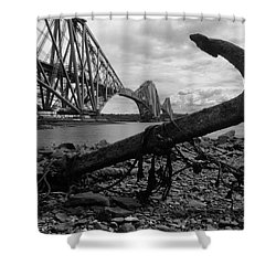 Forth Bridge Anchor Shower Curtain by Jeremy Voisey