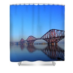 Shower Curtain featuring the photograph Forth Rail Bridge by David Grant