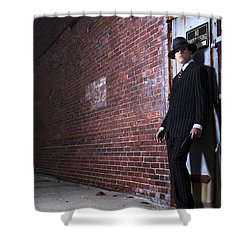Forties Style Film Noir Gangster Shower Curtain by Diane Diederich