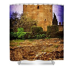 Fortress Tower Shower Curtain by Mary Machare