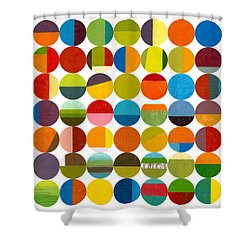 Forty Nine Circles 2.0 Shower Curtain