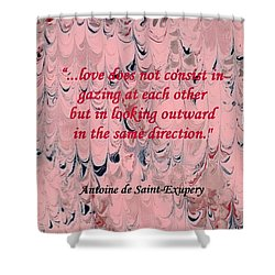 Forward Looking Love Shower Curtain