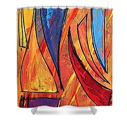 Forza Shower Curtain by Marcello Cicchini