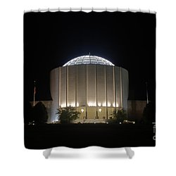 Founders Hall At Night Shower Curtain by Mark Dodd