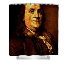 Founding Father Shower Curtain by Benjamin Yeager