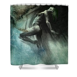 Fount I - Textured Shower Curtain