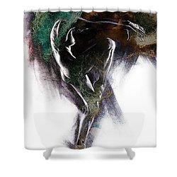 Fount II. Textured. A Shower Curtain