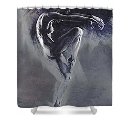 Fount II. Textured B. Shower Curtain