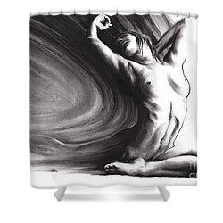 Fount Iv Shower Curtain by Paul Davenport