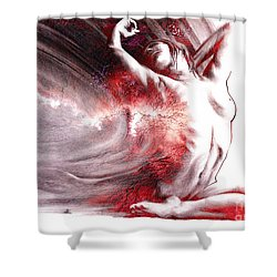 Fount Iv Textured Shower Curtain