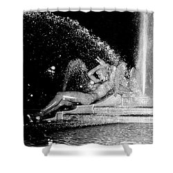 Fountain At Logan Square Shower Curtain
