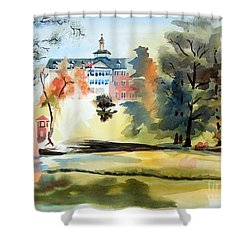 Fountain At The Baptist Home Shower Curtain by Kip DeVore