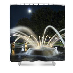 Fountain Charleston Waterfront Park Shower Curtain